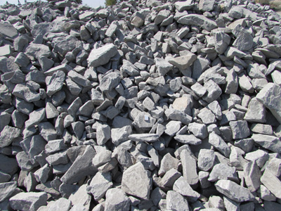 Бутовый камень фракции 300-600